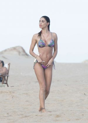 Belen Rodriguez in Bikini at the beach of Jose Ignacio in Uruguay