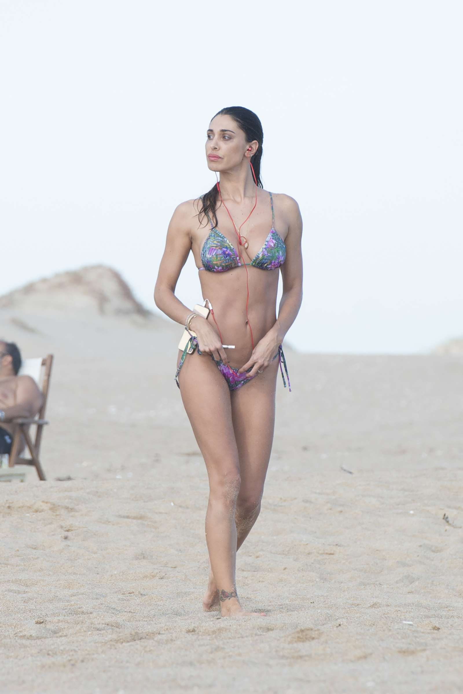 Belen Rodriguez in Bikini at the beach of Jose Ignacio in Uruguay