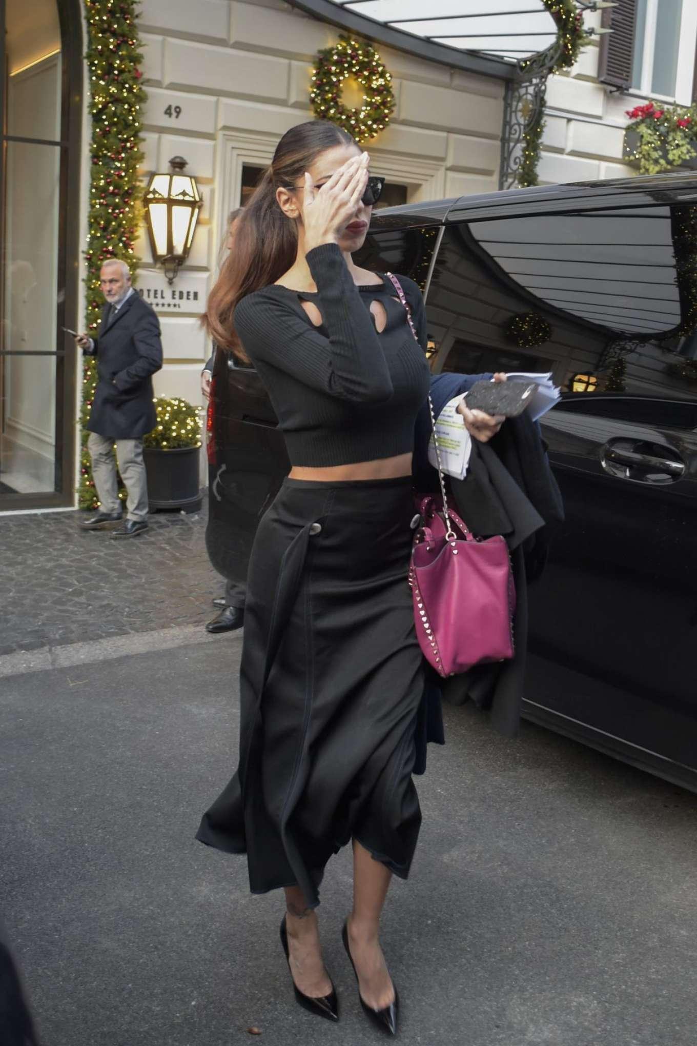 Belen Rodriguez 2017 : Belen Rodriguez: Leaves Her Hotel in Rome -07