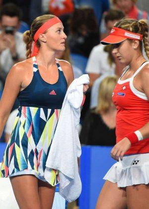 Belinda Bencic and Kristina Mladenovic - 2017 Hopman Cup at Perth Arena