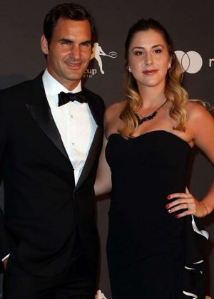 Belinda Bencic and Roger Federer - Hopman Cup New Years Eve Players Ball in Perth