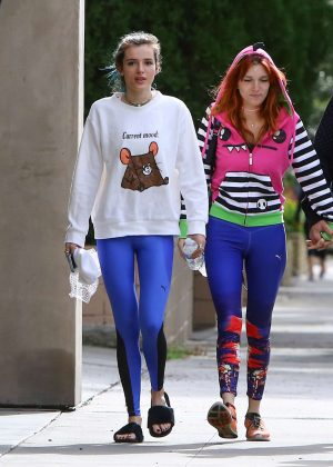 Bella and Dani Thorne - Head to Lunch in West Hollywood