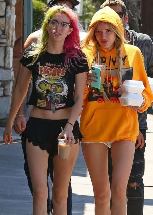Bella and Dani Thorne out for lunch in LA