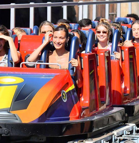 Bella and Gigi Hadid at Disneyland in Anaheim-02