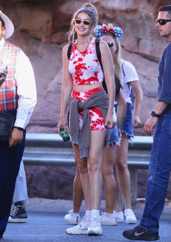 Bella and Gigi Hadid at Disneyland in Anaheim-13