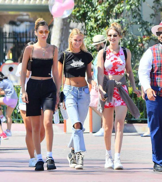 Bella and Gigi Hadid at Disneyland in Anaheim-15