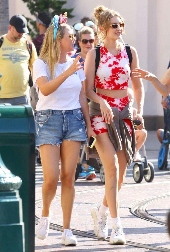 Bella and Gigi Hadid at Disneyland in Anaheim-19