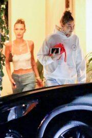 Bella and Gigi Hadid - Exiting a house party in LA