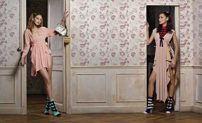 Bella and Gigi Hadid - Fendi Spring/Summer 2017 Campaign