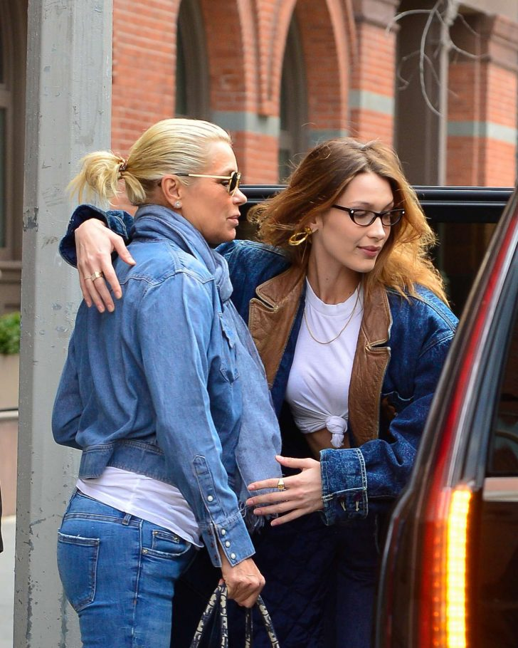 Bella and Yolanda Hadid: Out in NYC -04