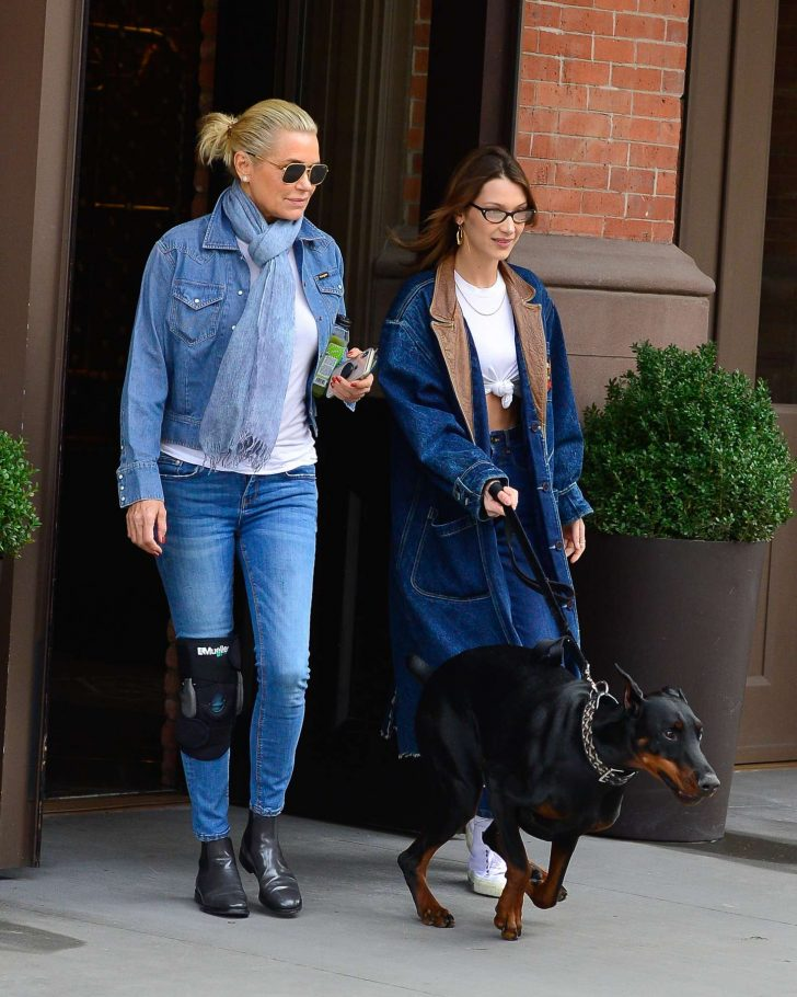 Bella and Yolanda Hadid - Out in NYC