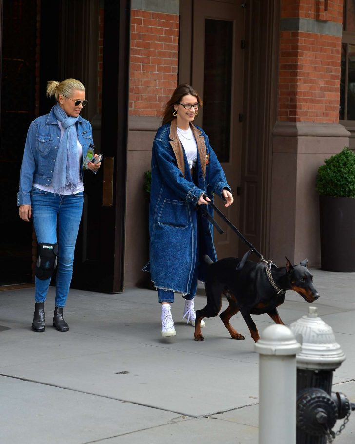 Bella and Yolanda Hadid: Out in NYC -08