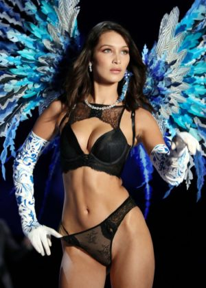 Bella Hadid - 2017 Victoria's Secret Fashion Show Runway in Shanghai