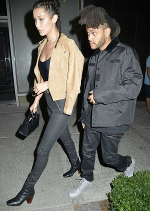 Bella Hadid and Abel Tesfaye Night out in NYC