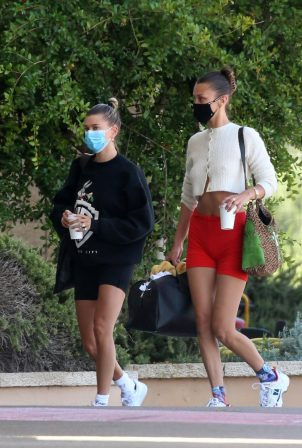 Bella Hadid and Hailey Bieber - Out in Sardina - Italy