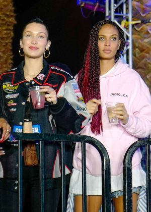 Bella Hadid and Joan Smalls - Kylie and Kourtney's official afterparty at 2018 Coachella in Indio