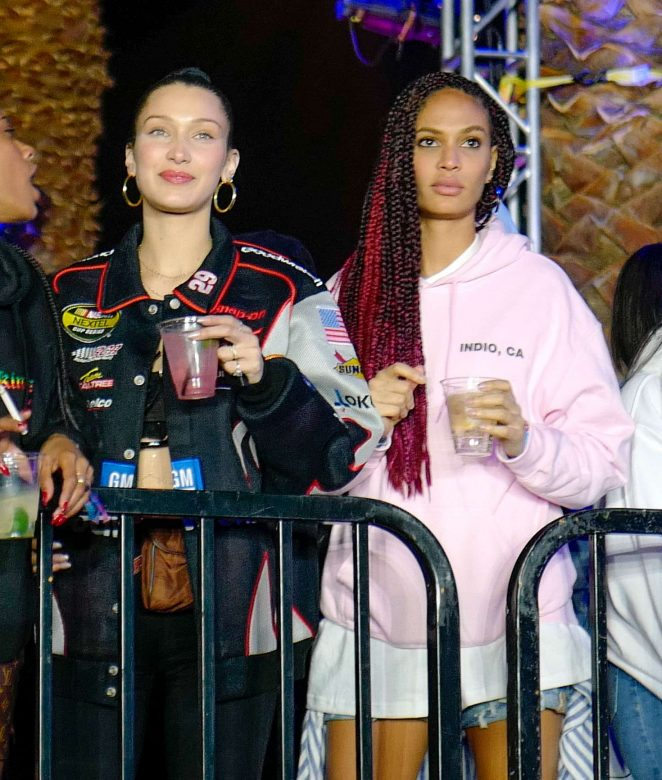Bella Hadid and Joan Smalls – Kylie and Kourtney's official afterparty at 2018 Coachella in Indio