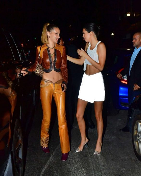 Kendall Jenner 2019 : Bella Hadid and Kendall Jenner at Avenue nightclub-09