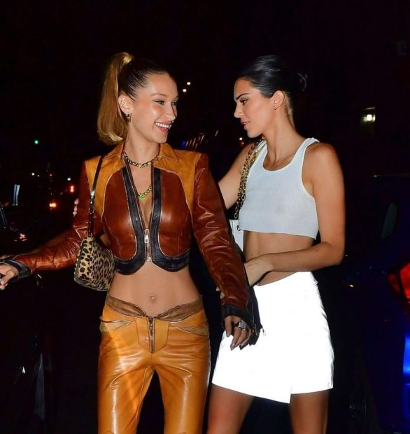 Kendall Jenner 2019 : Bella Hadid and Kendall Jenner at Avenue nightclub-16
