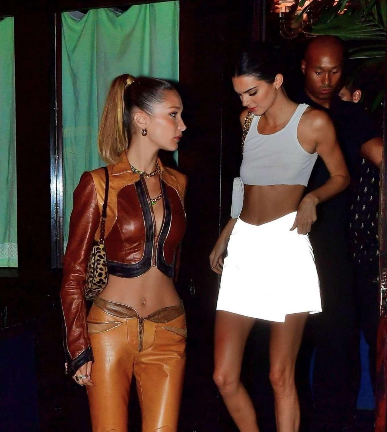 Bella Hadid and Kendall Jenner at Avenue nightclub