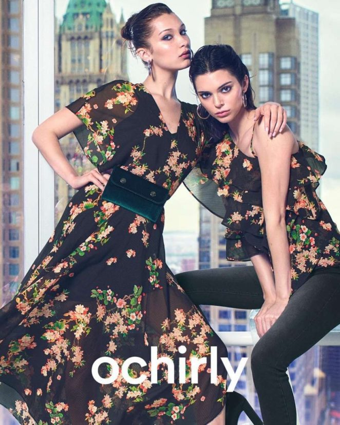 Bella Hadid and Kendall Jenner – Ochirly 2018 Campaign