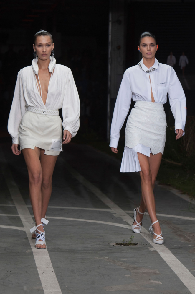 Bella Hadid and Kendall Jenner – Off-White Runway Show in Paris