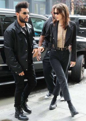 Bella Hadid and The Weeknd - Arriving at Sadelle's for her birthday in New York