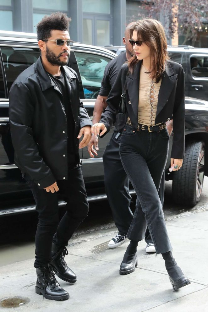 Bella Hadid and The Weeknd – Arriving at Sadelle's for her birthday in New York