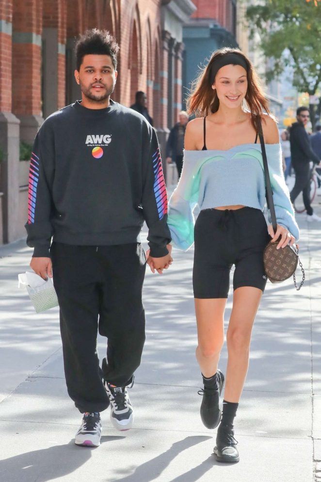 Bella Hadid and The Weeknd - Holding hands while out and about in NYC