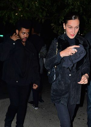 Bella Hadid and The Weeknd - Night out in New York City