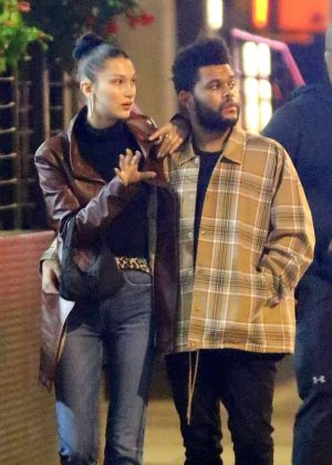Bella Hadid and The Weeknd - Night Out in New York