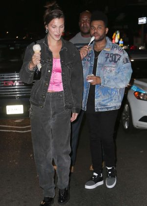 Bella Hadid and The Weeknd - Out in New York