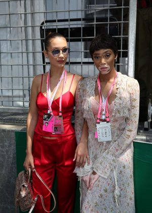 Bella Hadid and Winnie Harlow at Monaco Formula One Grand Prix in Monaco