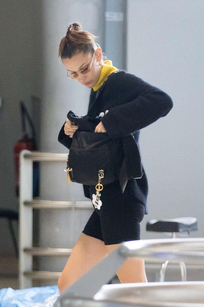 Bella Hadid - Arrives at Airport in Paris