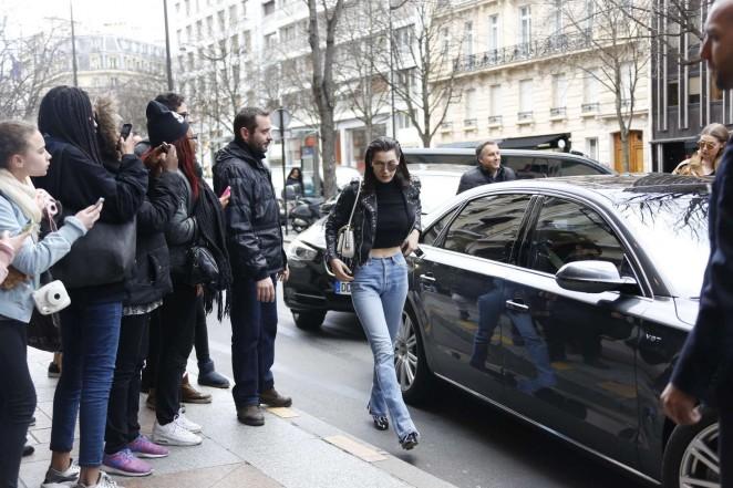 Bella Hadid: Arrives at her hotel -05