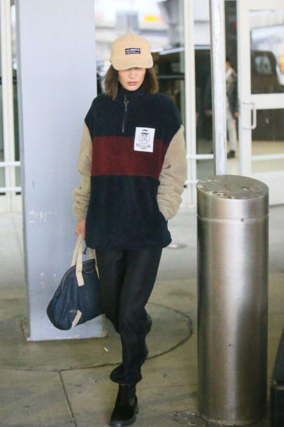 Bella Hadid - Arrives at JFK Airport in New York