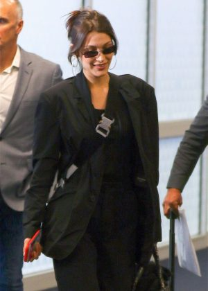 Bella Hadid - Arrives at JFK airport in NYC