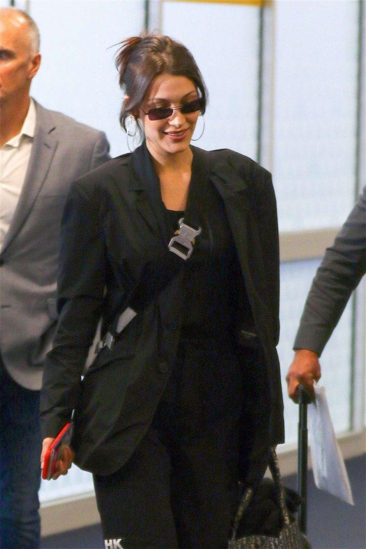 Bella Hadid - Arrives at JFK airport in NYC