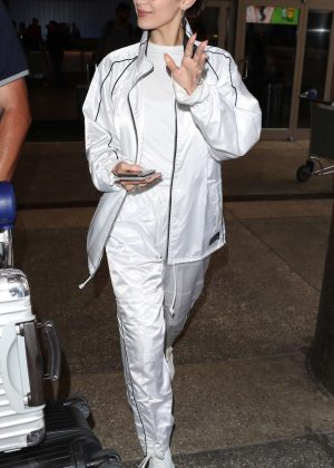 Bella Hadid - Arrives at LAX Airport in LA