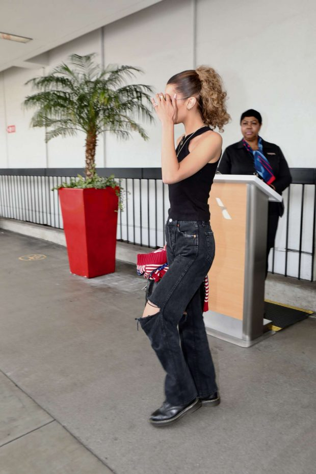 Bella Hadid: Arrives at LAX International Airport-04