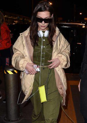 Bella Hadid - Arrives at Malpensa Airport in Milan