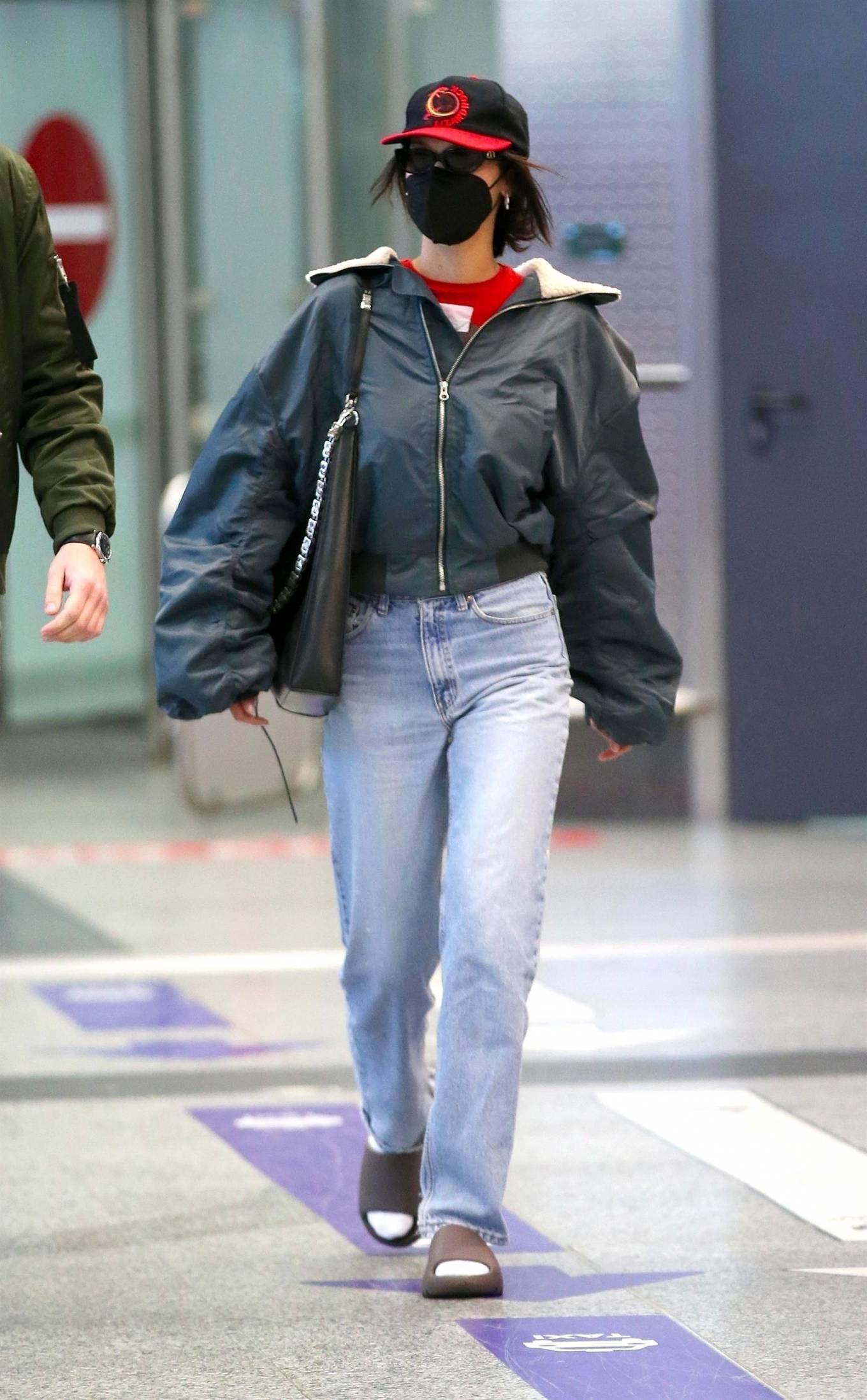 Bella Hadid - Arrives at Milan Airport