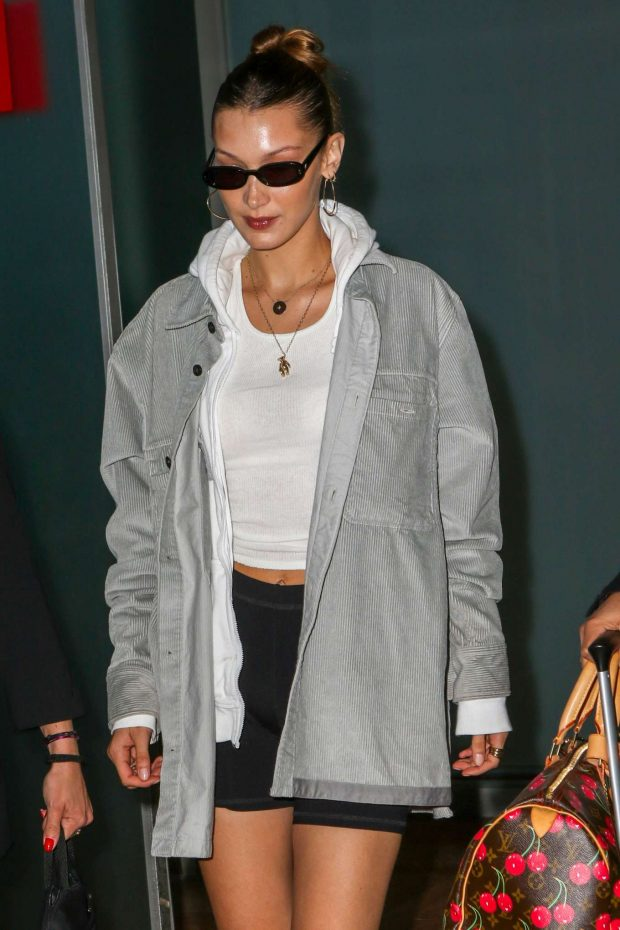 Bella Hadid - Arrives at Nice Airport in France