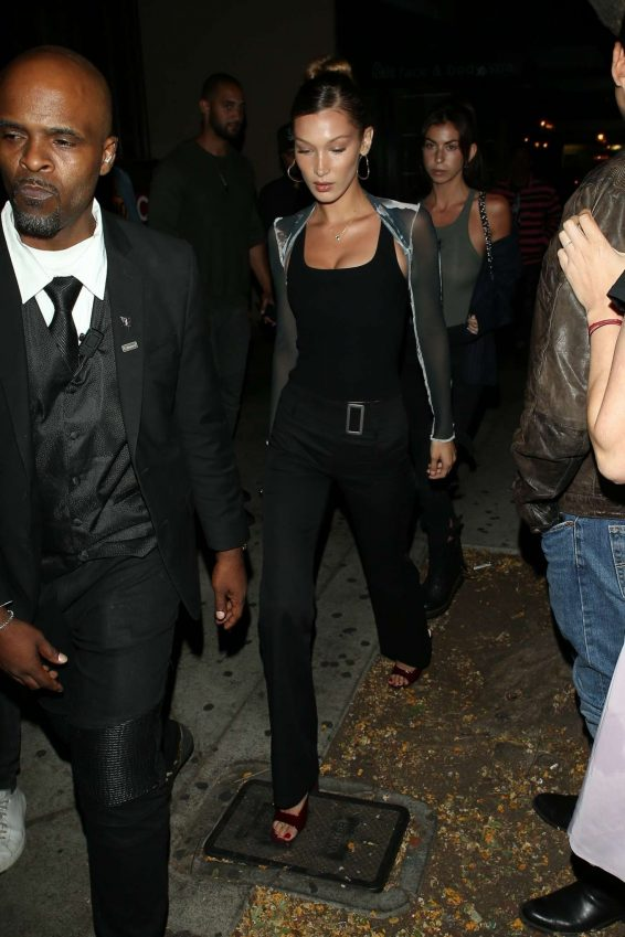 Bella Hadid – Arrives at the Peppermint Club-01