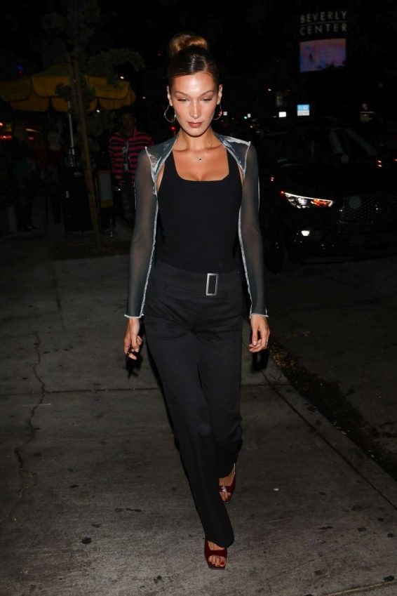 Bella Hadid – Arrives at the Peppermint Club-02