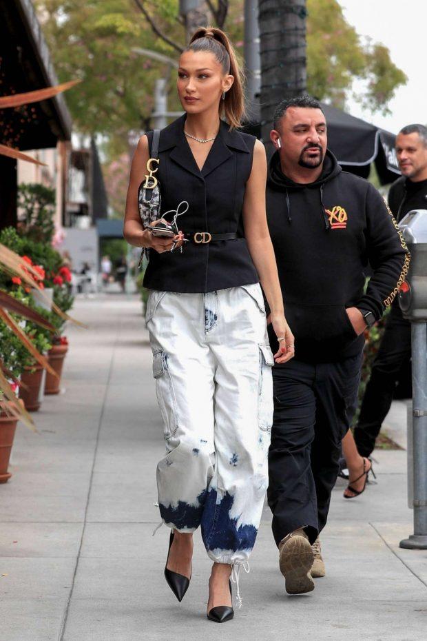 Bella Hadid: Arrives at Via Alloro -03