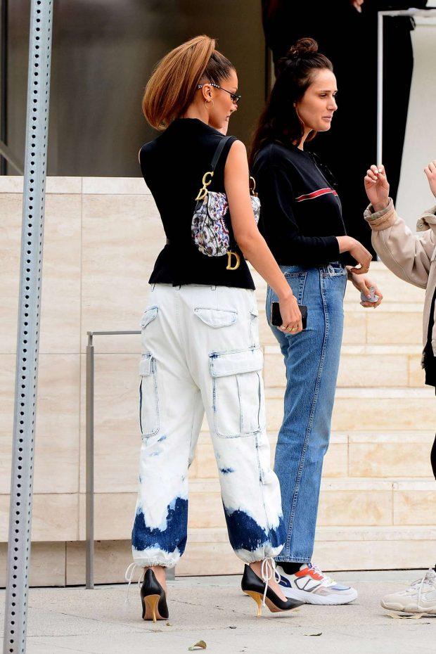 Bella Hadid: Arrives at Via Alloro -14