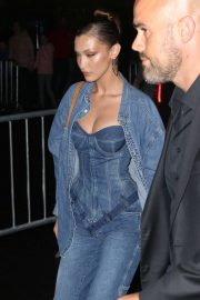 Bella Hadid - Arrives to Gigi Hadid's Denim Themed Birthday Party in NYC