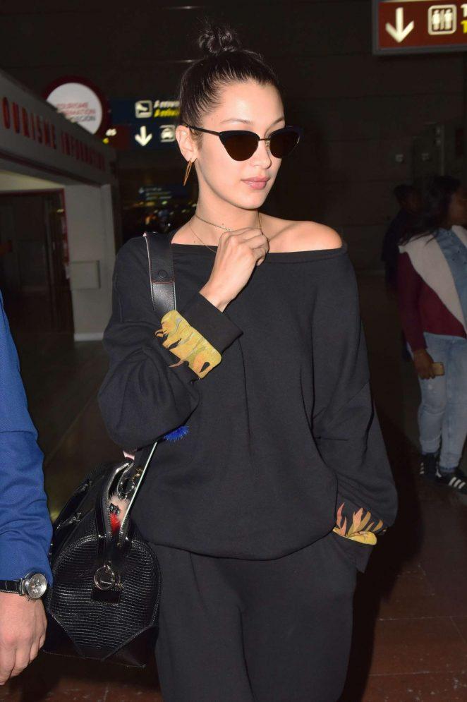 Bella Hadid - Arriving at Charles de Gaulles airport in Paris