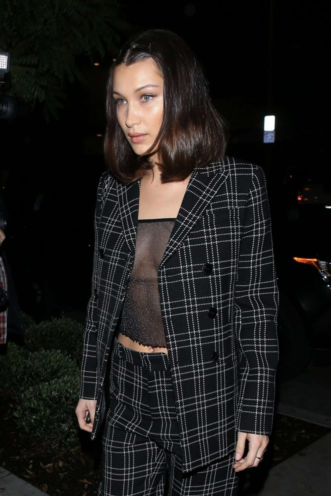 Bella Hadid - Arriving at 'Gracias Madre' Restaurant in West Hollywood